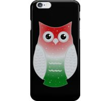 Green and Red Snow Owl iPhone Case/Skin