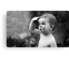 Mud treatment for kids Canvas Print
