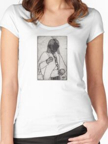 The Faceless Woman Women's Fitted Scoop T-Shirt