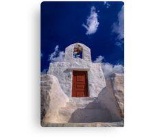Small traditional Greek chapel Canvas Print