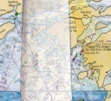 Tibbetts Pt Lighthouse NY Nautical Chart Peek Sticker