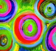 Mixed Media Circles  by Tricia Anne Michael
