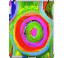 Mixed Media Circles  iPad Case/Skin