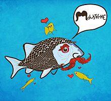 Fishy Moustache by Tepa Lahtinen
