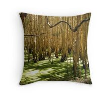 Ghost Gums in Green Throw Pillow