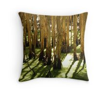 Ghost Gums in Green 2 Throw Pillow