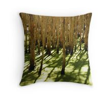 Ghost Gums in Green 3 Throw Pillow