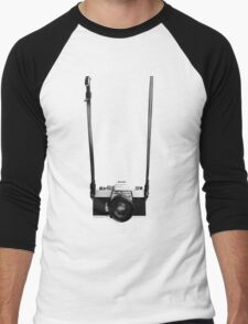 Digital camera isolated on white background DSLR on T-Shirt Men's Baseball ¾ T-Shirt