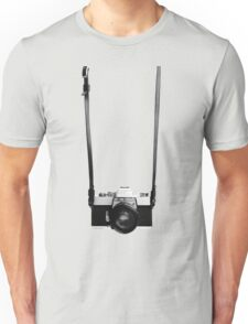 Digital camera isolated on white background DSLR on T-Shirt Unisex T-Shirt