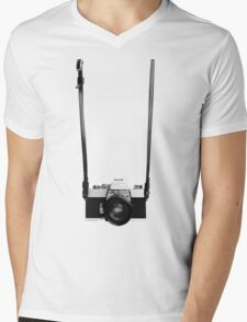 Digital camera isolated on white background DSLR on T-Shirt Mens V-Neck T-Shirt