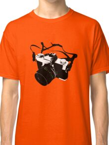 Digital camera isolated on white background DSLR on T-Shirt Classic T-Shirt