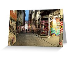 graffiti alley Greeting Card