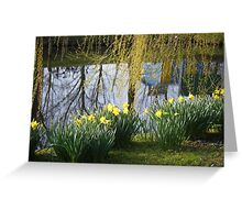 Yellow bathers on the bank Greeting Card