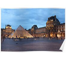 Louvre at dusk Poster