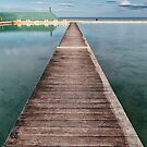 Newcastle Ocean Baths - The Pathway by Michael Howard