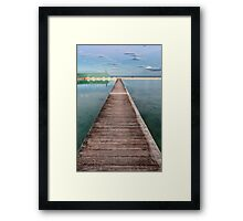 Newcastle Ocean Baths - The Pathway Framed Print