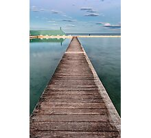 Newcastle Ocean Baths - The Pathway Photographic Print