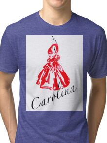 Red Dress - Carolina _ watercolor Fashion Illustration  Tri-blend T-Shirt