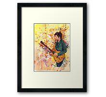 Guitarist Illustration Framed Print