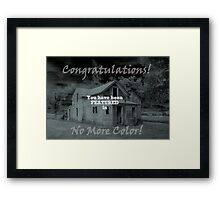 Challenge Entry Framed Print