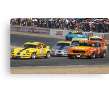 Qld Raceway 2012 Touring Car Masters.. Angry Mob Canvas Print