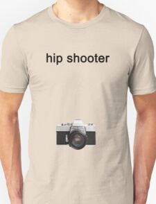 Digital camera isolated on white background DSLR on T-Shirt Unisex T-Shirt