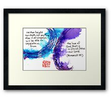 Neither Height nor Depth Framed Print