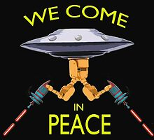 We Come in Peace Design by funkensteiner