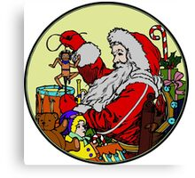 Vintage Santa and lots of toys (full color) Canvas Print