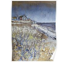 Looking Towards Boulmer Cottages Poster