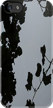 Grey Shadows Of Leaves iPhone Case by iosifskoufos