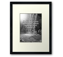 """Psalm 119:136""  by Carter L. Shepard Framed Print"