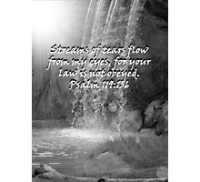 """Psalm 119:136""  by Carter L. Shepard Photographic Print"