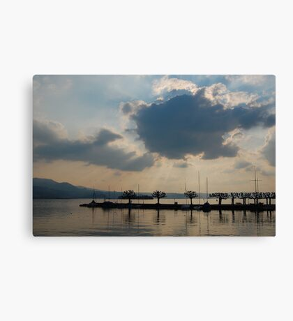 the silver lining Canvas Print
