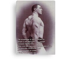George Hackenschmidt - Fitness, Strength and Health Motivation Canvas Print