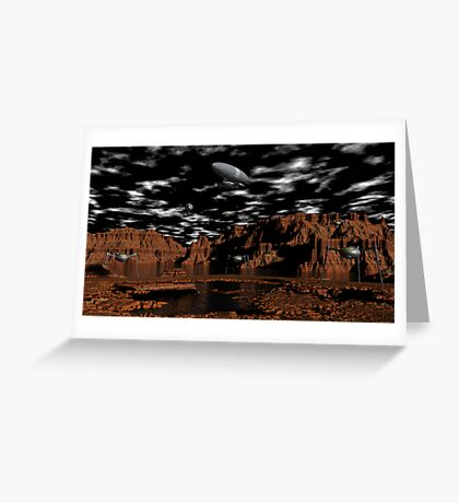 Once Upon A Time on Mars Greeting Card