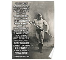George Hackenschmidt - Fitness, Strength and Health Motivation Poster