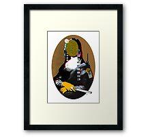 Mona Lisa StreetPopArt - Gold Version Framed Print