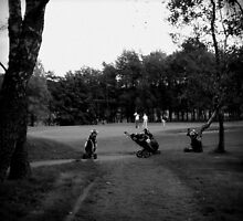 Golfers & Golf Carts by dawnandchris
