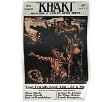 Khaki magazine cabled news sheet 557 Poster