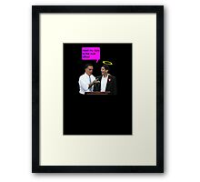 romney ryan 2012 oval office funny date Framed Print