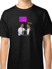 romney ryan 2012 oval office funny date Classic T-Shirt