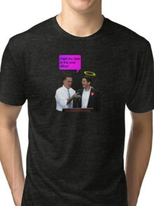 romney ryan 2012 oval office funny date Tri-blend T-Shirt