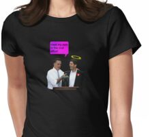 romney ryan 2012 oval office funny date Womens Fitted T-Shirt