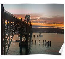 Yaquina Bay Bridge at Sunrise Poster