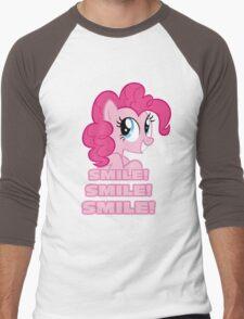 Pinkie Pie - Smile! Smile! Smile! (My Little Pony: Friendship is Magic) Men's Baseball ¾ T-Shirt