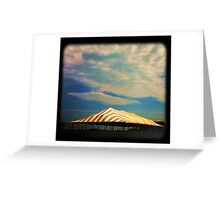 Yellow and White Tent Greeting Card