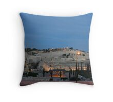 Mount of Olives, Jerusalem Throw Pillow