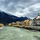 The Inn River-Innsbruck. by Lilian Marshall