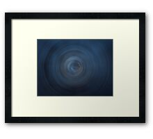Blue round abstract background Framed Print